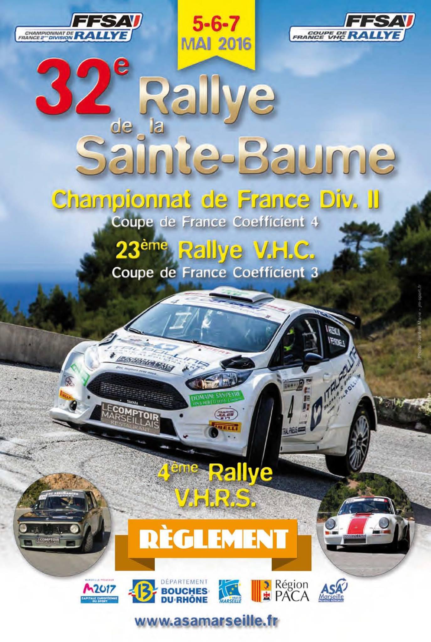 affiche du 32eme Rallye de la Sainte Baume