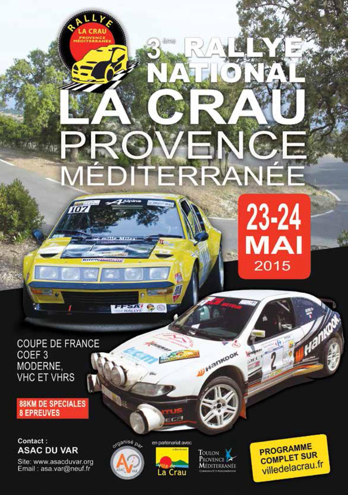 3eme Rallye de la Crau 2015
