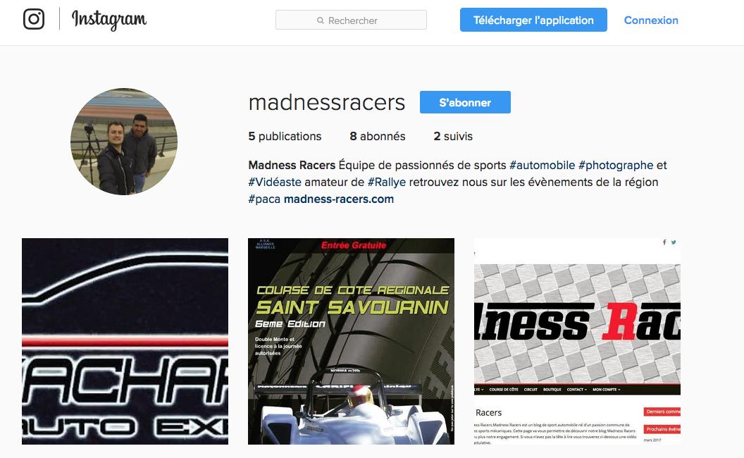 Madness Racers Instagram photos video rallye courses de côtes circuit evenement auto et direct